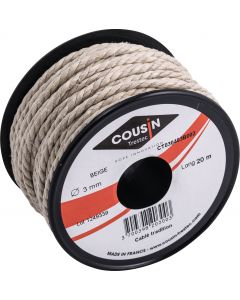 Traditional cable thread Ø 3 mm - reel 20 m
