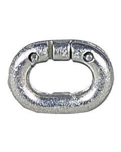 Galvanized link to rivet