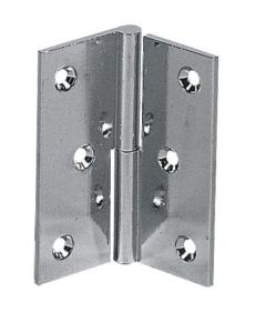Brass plated flap hinge 60x50 mm