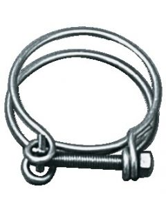 Double spiral collar for ringed hoses