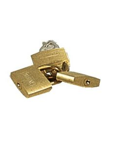 Brass padlock standard same key