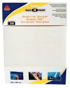 Dry abrasive sheet