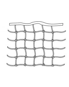 Square knotted mesh rail nets