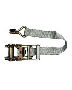 Ratchet model lashing strap in 2 parts 35mm, L : 6m, R : 2500Kg