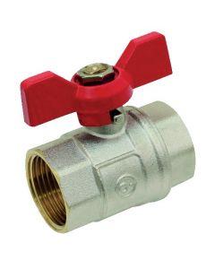 Vane butterfly valve handle