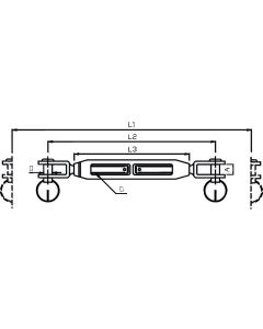 2 turnbuckles shaped open body