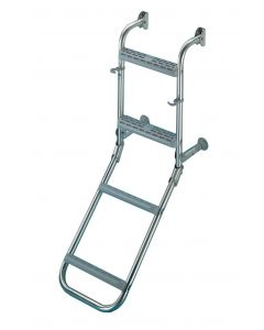 Folding stainless steel ladder