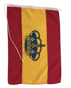 Flag in polyester Spain crown