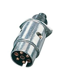 Metallic socket 7 pin 12V male plug