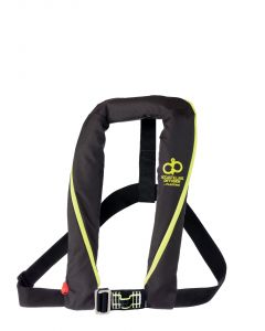 AD165 vest automatic UML black with harness + AIS Simy beacon