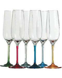 Party champagne flutes 6 piece