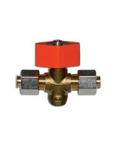 Gas stop tap in bulkhead