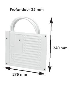 Evaporator fridge max 50 L for BD35F cold group