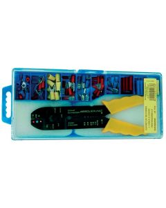 Pliers for stripping and crimping.