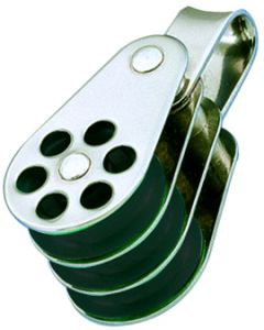 Pulleys inox triple ring Ø 4 to 6 mm