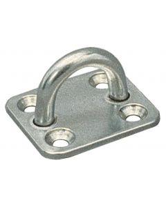 Stainless steel eye strap plate Ø : 5 mm, 35x40 mm