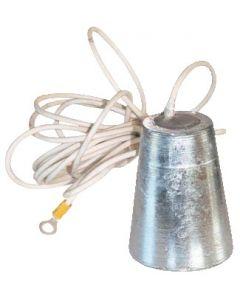 Anode aluminium to hang